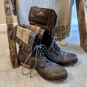 Madden Combat Boots - Dark Brown